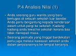 p 4 analisis nilai 1