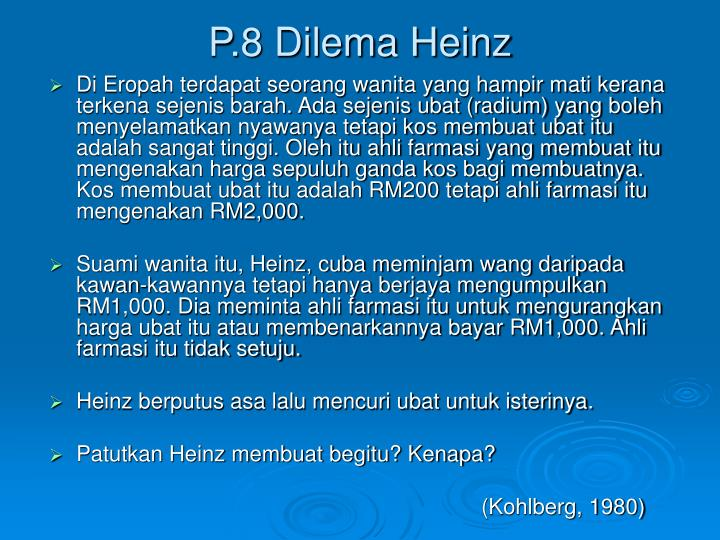 P.8 Dilema Heinz