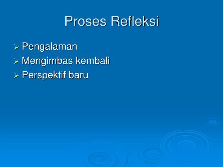 Proses Refleksi