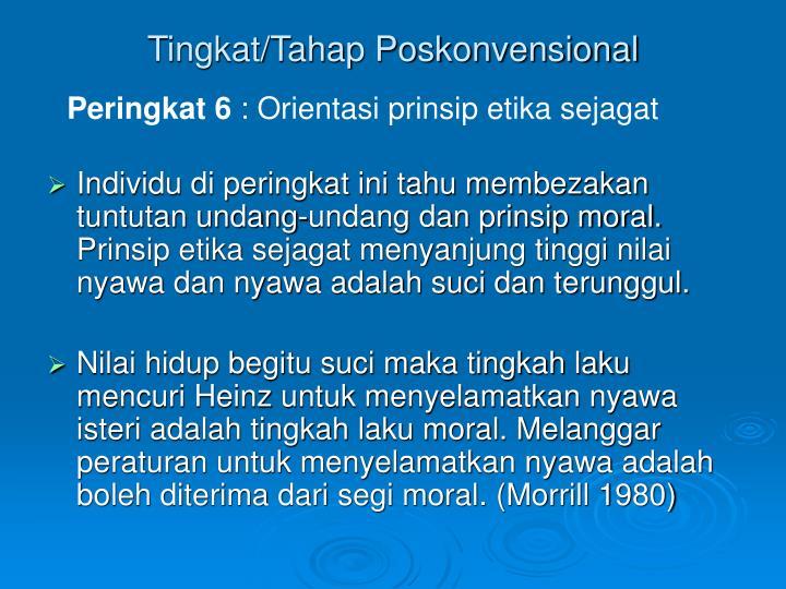 Tingkat/Tahap Poskonvensional