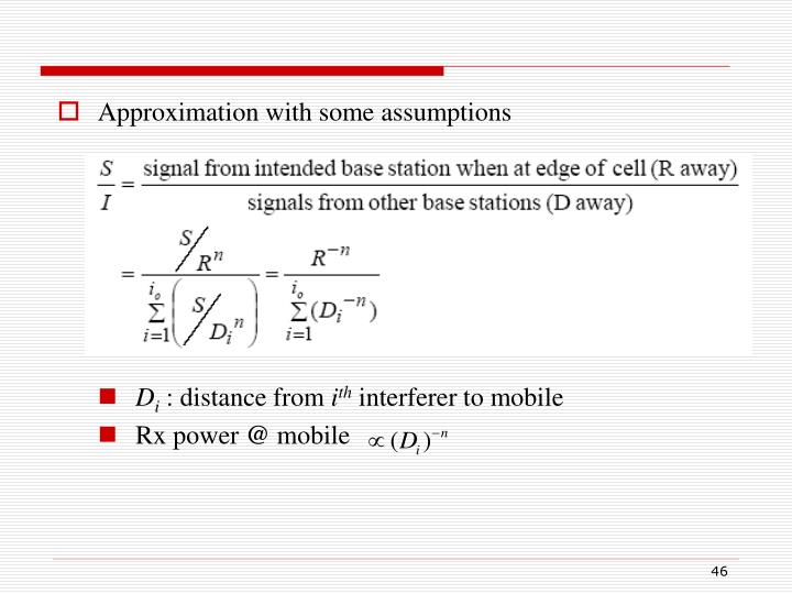 Approximation with some assumptions