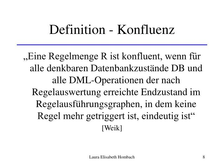 Definition - Konfluenz