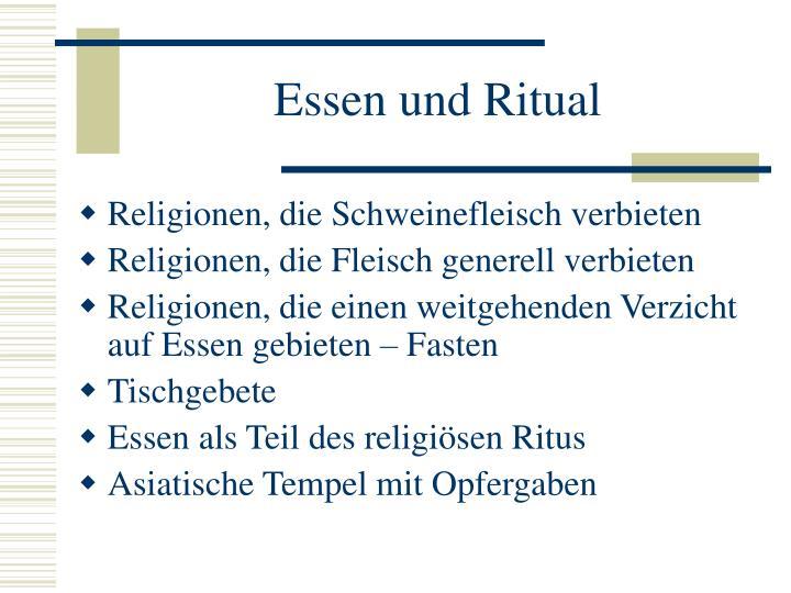 Essen und Ritual
