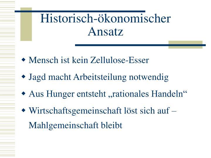 Historisch-ökonomischer