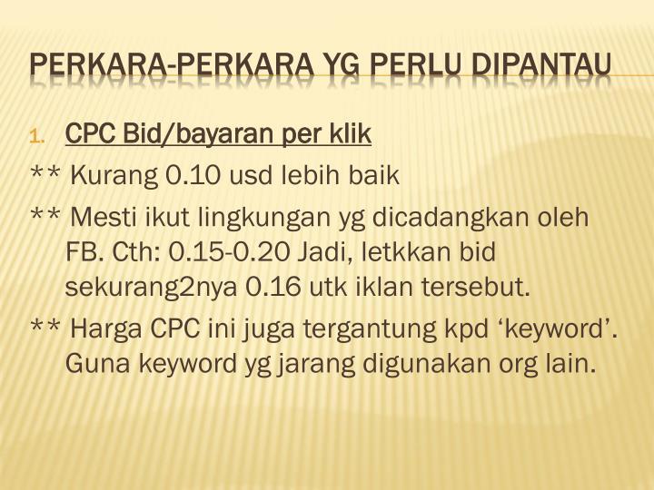 CPC Bid/