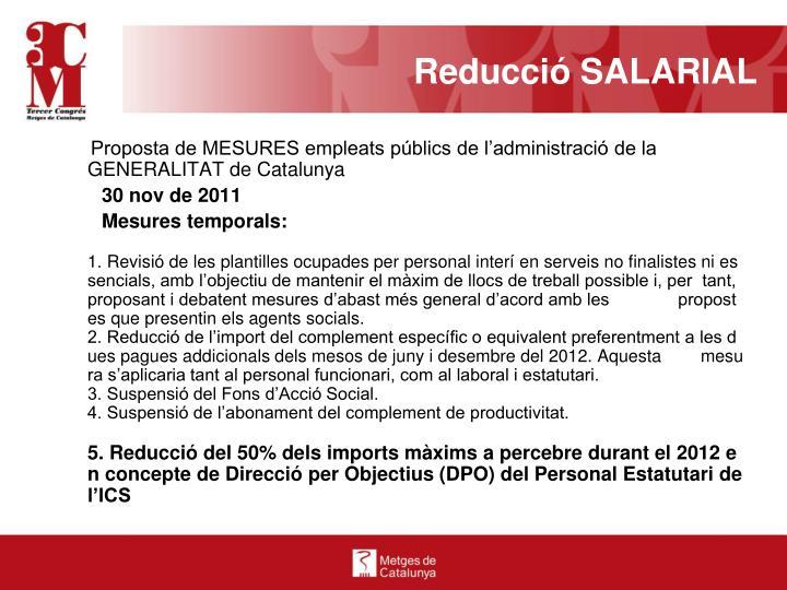 Reducció SALARIAL