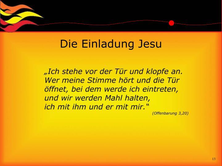 Die Einladung Jesu
