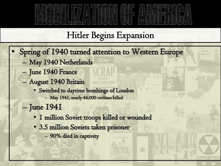 Hitler Begins Expansion