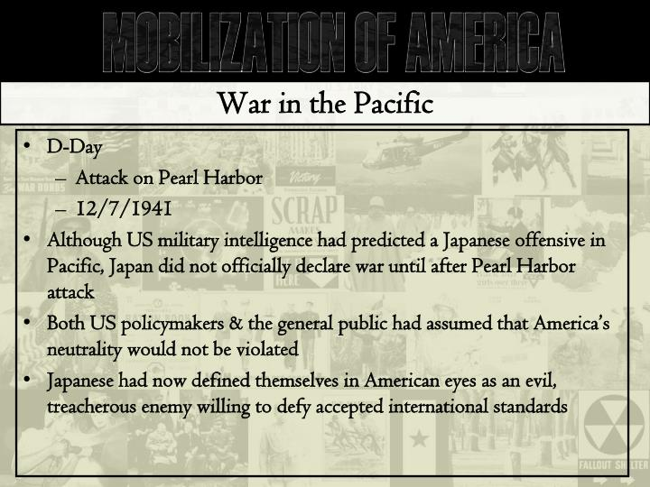 War in the Pacific