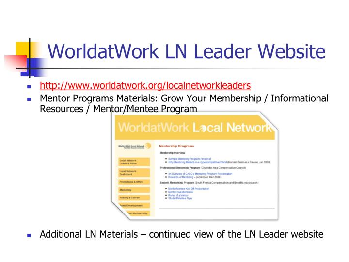 WorldatWork LN Leader Website