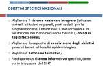 obiettivi specifici nazionali