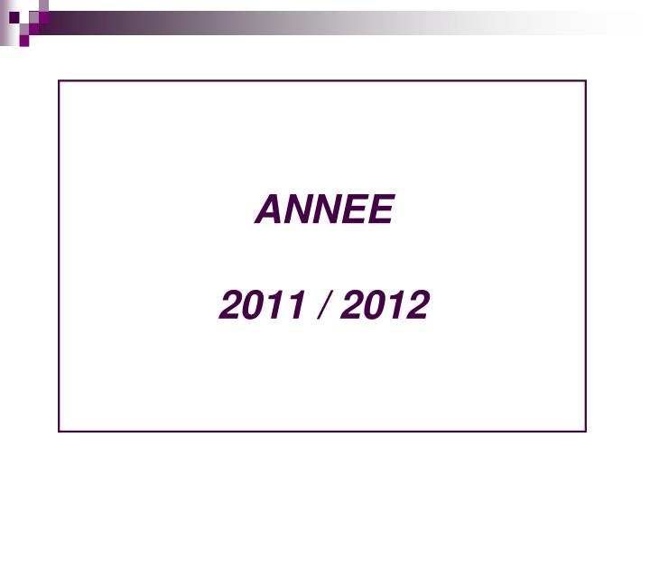 ANNEE