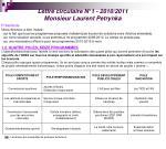 lettre circulaire n 1 2010 2011 monsieur laurent petrynka
