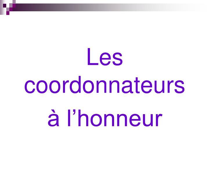 Les coordonnateurs