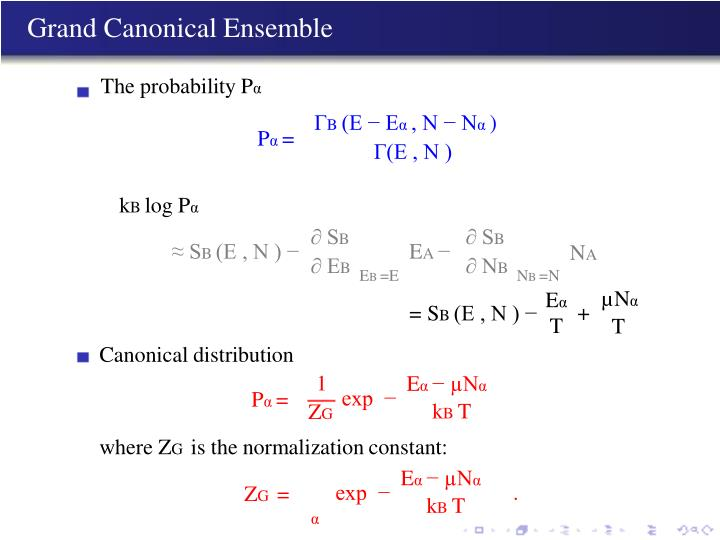 Grand Canonical Ensemble
