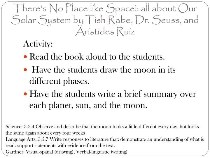 There s no place like space all about our solar system by tish rabe dr seuss and aristides ruiz