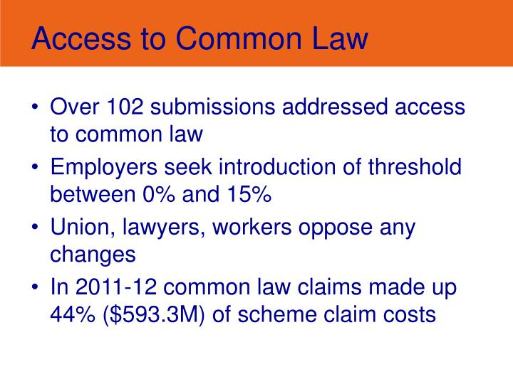 Access to Common Law