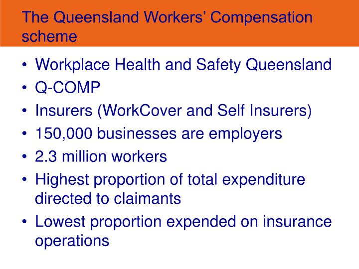 The queensland workers compensation scheme