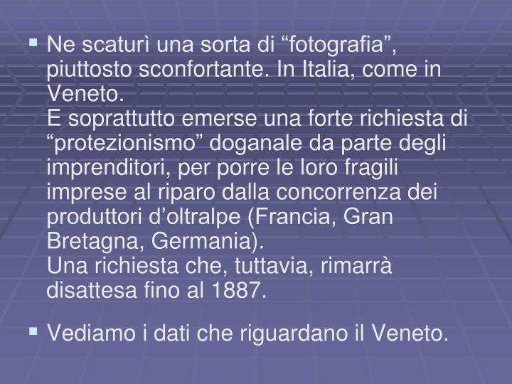 """Ne scaturì una sorta di """"fotografia"""", piuttosto sconfortante. In Italia, come in Veneto."""