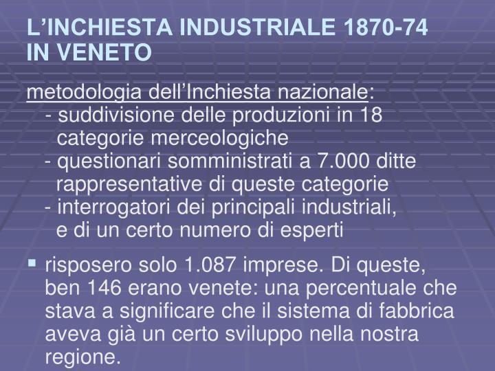 L'INCHIESTA INDUSTRIALE 1870-74