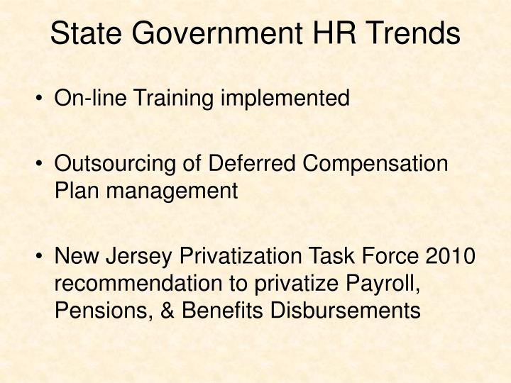 State Government HR Trends