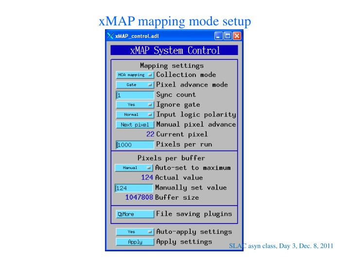 xMAP mapping mode setup