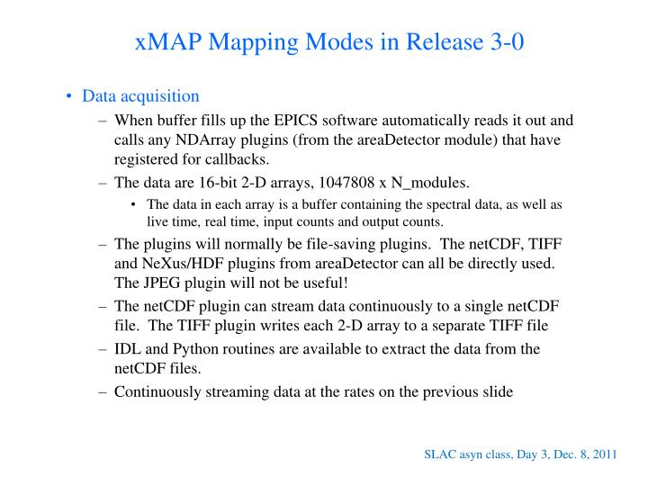 xMAP Mapping Modes in Release 3-0