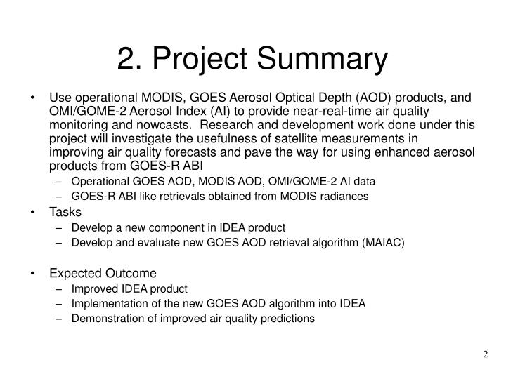 2 project summary