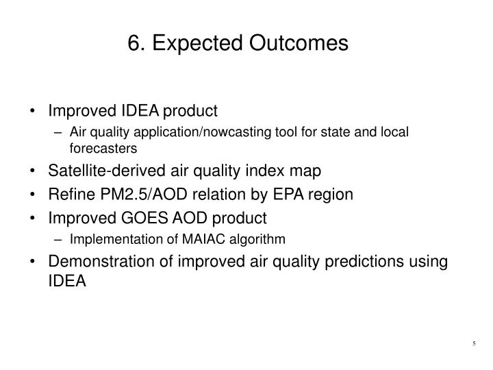 6. Expected Outcomes