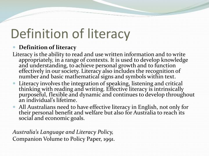 Definition of literacy