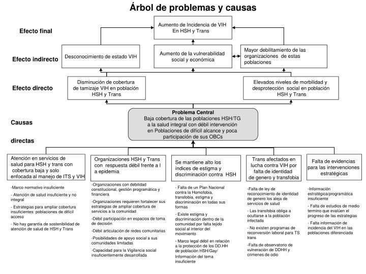 Árbol de problemas y causas