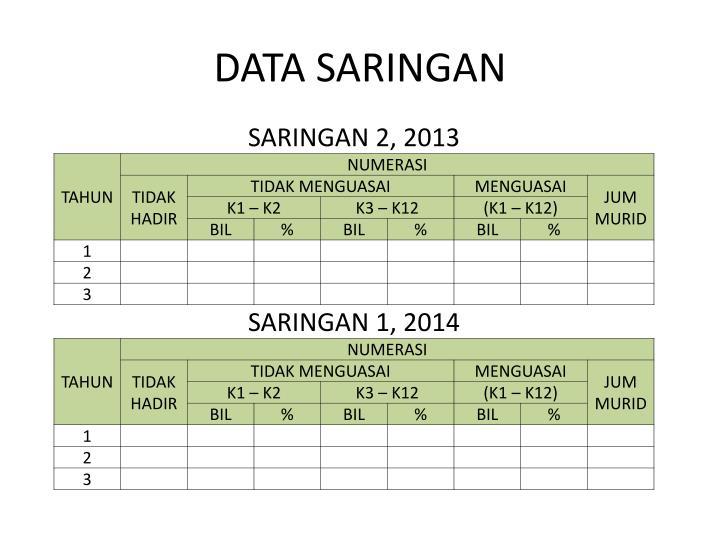 DATA SARINGAN