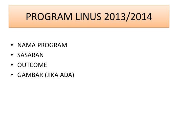 PROGRAM LINUS 2013/2014