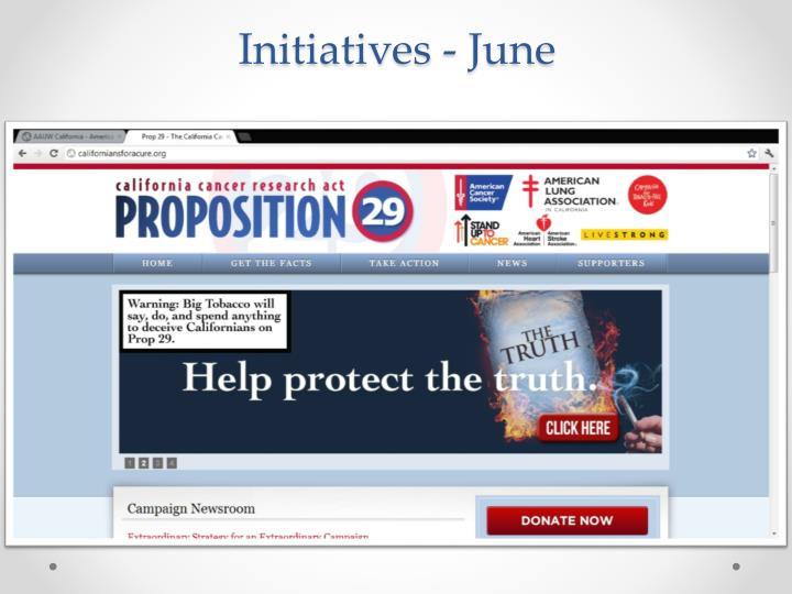 Initiatives - June