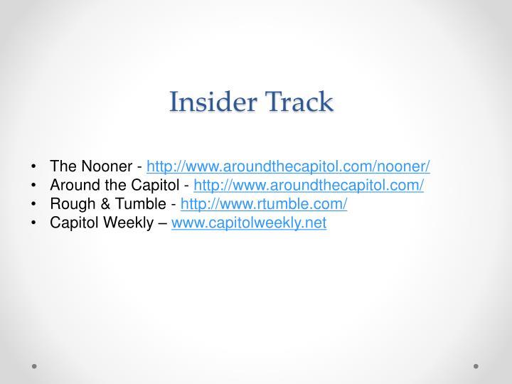 Insider Track