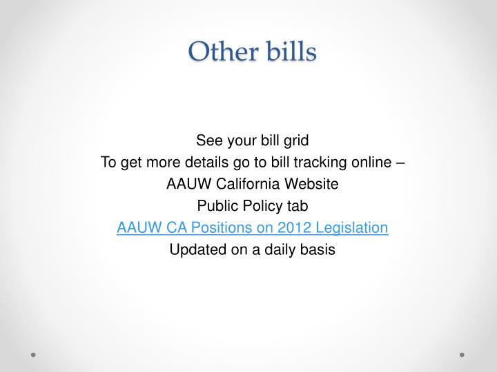 Other bills