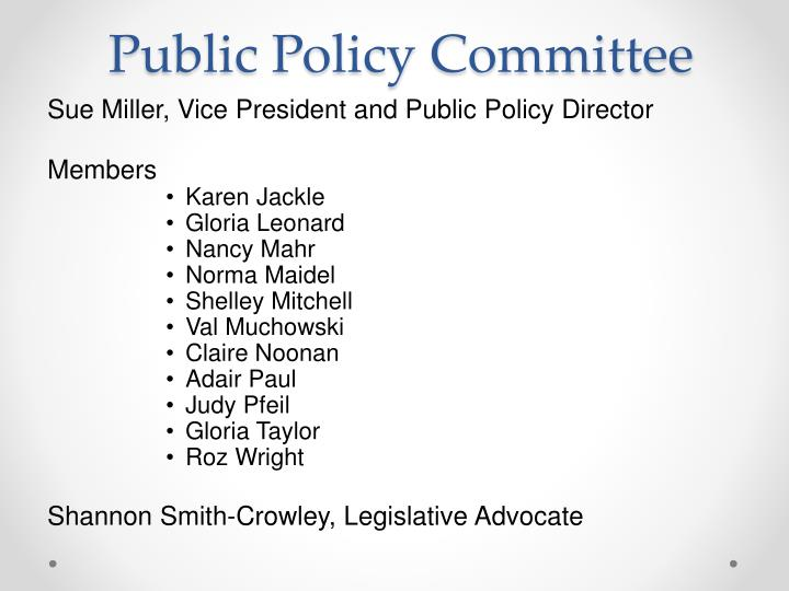 Public Policy Committee