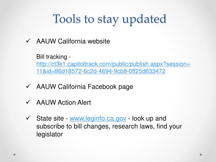 Tools to stay updated