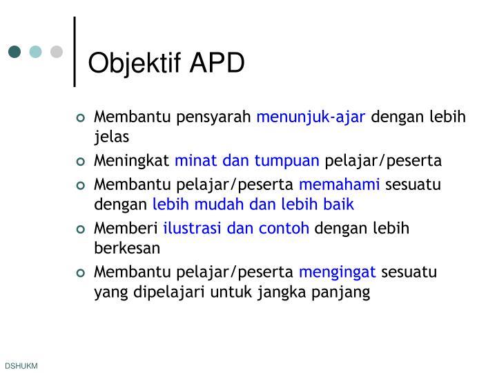 Objektif APD