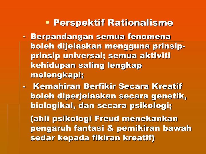Perspektif Rationalisme