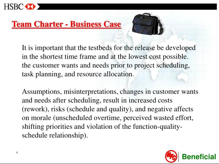 Team Charter - Business Case