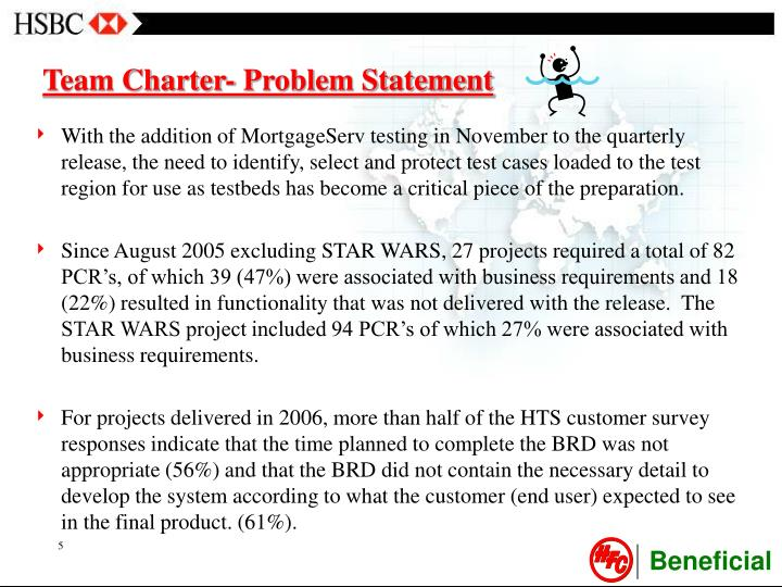 Team Charter- Problem Statement