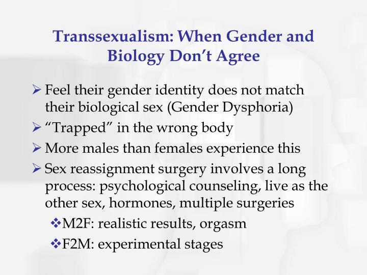 Transsexualism: When Gender and Biology Don't Agree