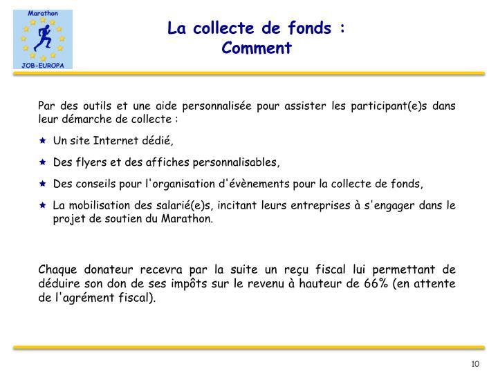 La collecte de fonds :