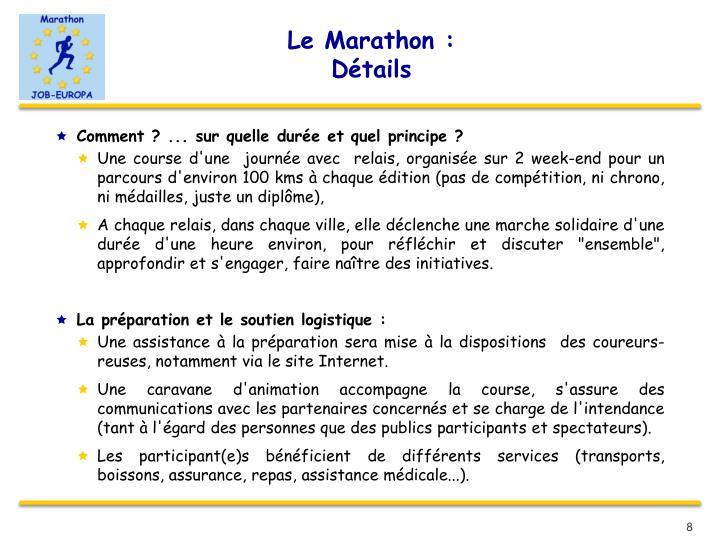 Le Marathon :