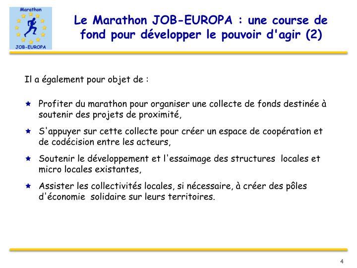 Le Marathon JOB-EUROPA : une course de fond pour développer le pouvoir d'agir (2)