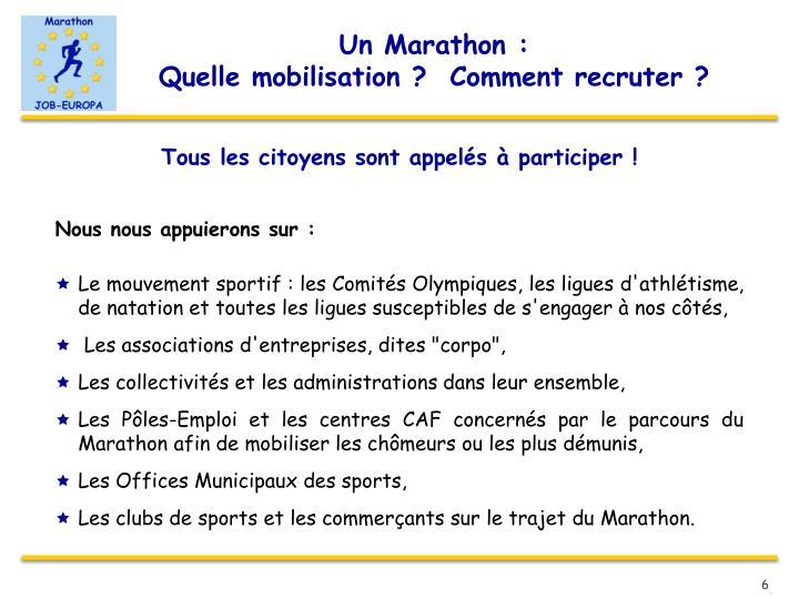 Un Marathon :