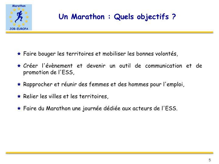 Un Marathon : Quels objectifs ?