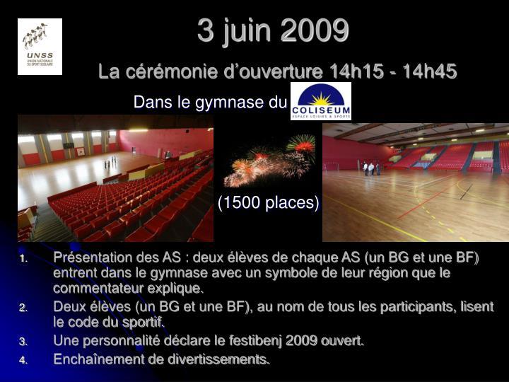 3 juin 2009
