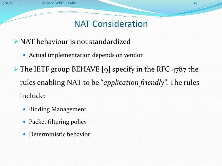NAT behaviour is not standardized